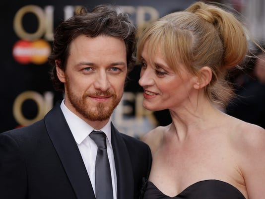 James McAvoy, left, and wife Anne-Marie Duff