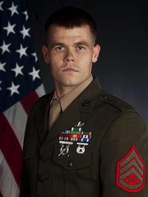 Staff Sgt. Jeffrey Anderson, of Nevada, Iowa, is a combat photographer for the Marine Corps. His latest mission was to document relief efforts in Nepal by Joint Task Force 505.