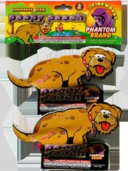Phantom Fireworks of Ohio offers Poopy Pooch, a novelty product.