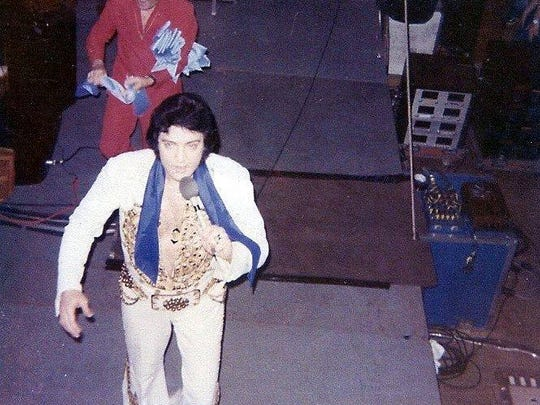 Elvis Presley performed June 20, 1977, at the Sioux