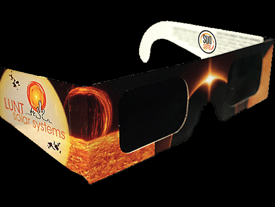 Lunt Solar Systems eclipse glasses are being sold by