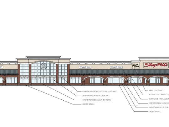 A drawing of the new ShopRite under construction in Shrewsbury.