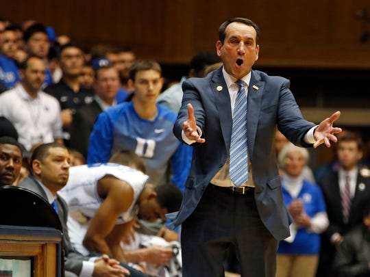 I had to watch Coach K and Duke beat the Tar Heels as part of my 13 hours of college basketball viewing last week.