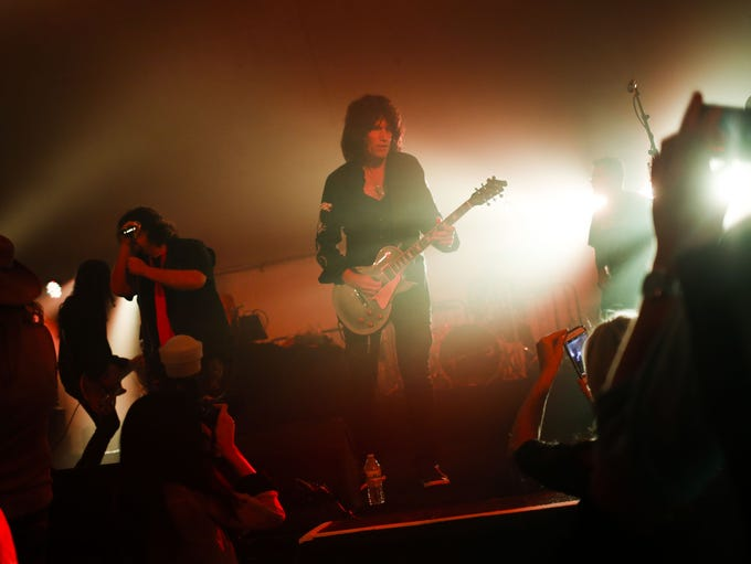 Kiss guitarist Tommy Thayer performs during Alice Cooper's