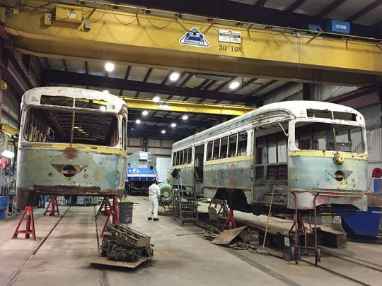 "In late 2015, six of El Paso's classic Presidents' Conference Committee streetcars were taken to Brookville, Pa., where they are being restored by experts at the Brookville Equipment Corp. The company has more than a decade of experience in restoring vintage streetcars for daily use. Brookville has restored cars for the Southeastern Pennsylvania Transportation Authority and the San Francisco Municipal Transportation Agency. ""The craftsmen and craftswomen at Brookville have unparalleled expertise when it comes to restoring historic streetcars for the rigors of everyday service,"" said Raymond Telles, executive director of the Camino Real Regional Mobility Authority. ""These streetcars will not only honor El Paso's streetcar heritage, but they will serve as workhorses of El Paso's multimodal mass transit system."""