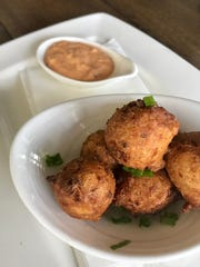Sweet corn fritters at Forty North in Hastings-on-Hudson