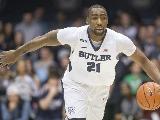 Roosevelt Jones brought the ball upcourt in a 2016 game against Marquette.