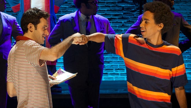 "The hosts of the 2017 Metro Awards -- Adam Chanler-Berat, left, and Kyle Beltran --  appeared in the 2014 Public Theater production of ""The Fortress of Solitude."""