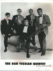 A vintage photo of the Dan Yessian Quintet. Yessian