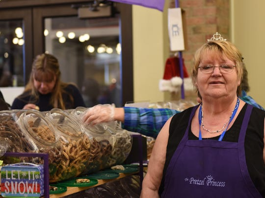 Betty Lou Kranz, owner of Pretzel Princess based in Orange County, sells dipped pretzels in more than 20 different varieties. She is one of 100 artists at the Dutchess Community College Foundation's annual craft fair Saturday and Sunday.