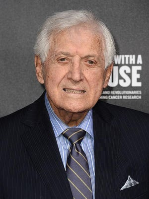 Television personality Monty Hall arrives at the 2nd Annual Rebels With A Cause Gala at Paramount Studios on March 20, 2014 in Hollywood, California. Hall has died on Saturday, Sept. 30, 2017. He was 96.