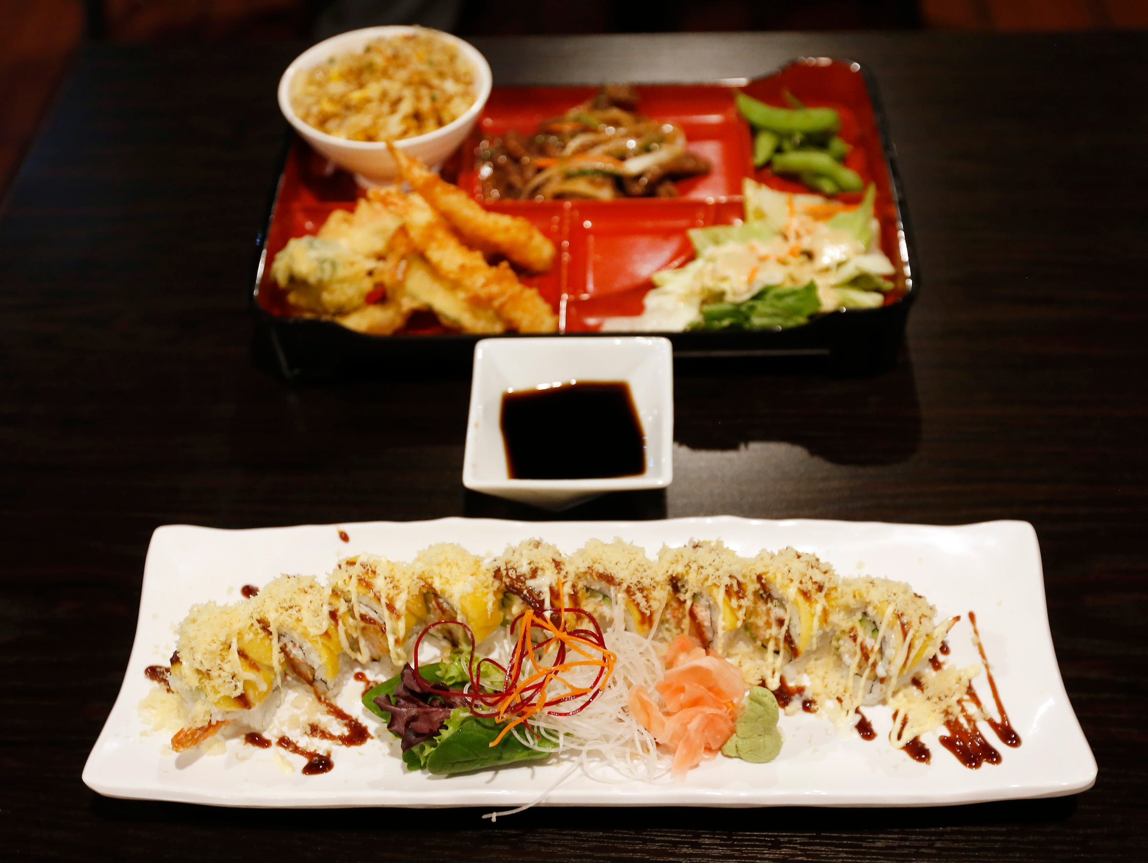 The Mango Crunch Roll at Momo Sushi & Grill at 120