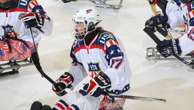 Chris Douglas is a member of the U.S. sled hockey team that recently won the Pan-Pacific championship.
