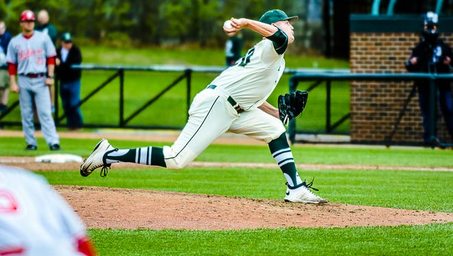 Redshirt sophomore Dakota Mekkes could be drafted as many as three times as an MSU player. Coach Jake Boss said the pitcher is projected to be taken somewhere between the fourth and 10th round in this week's MLB First-Year Player Draft.