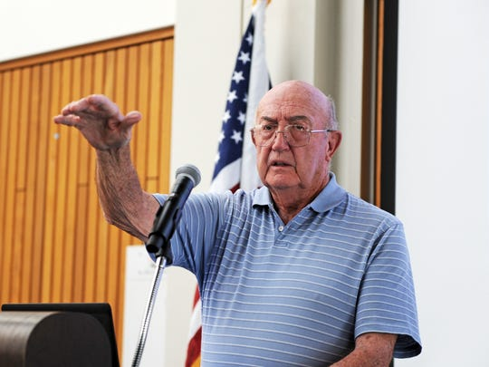 At the Hartnell ceremony on Thursday, veteran's rights advocate Jack Stewart spoke about supporting those who served.