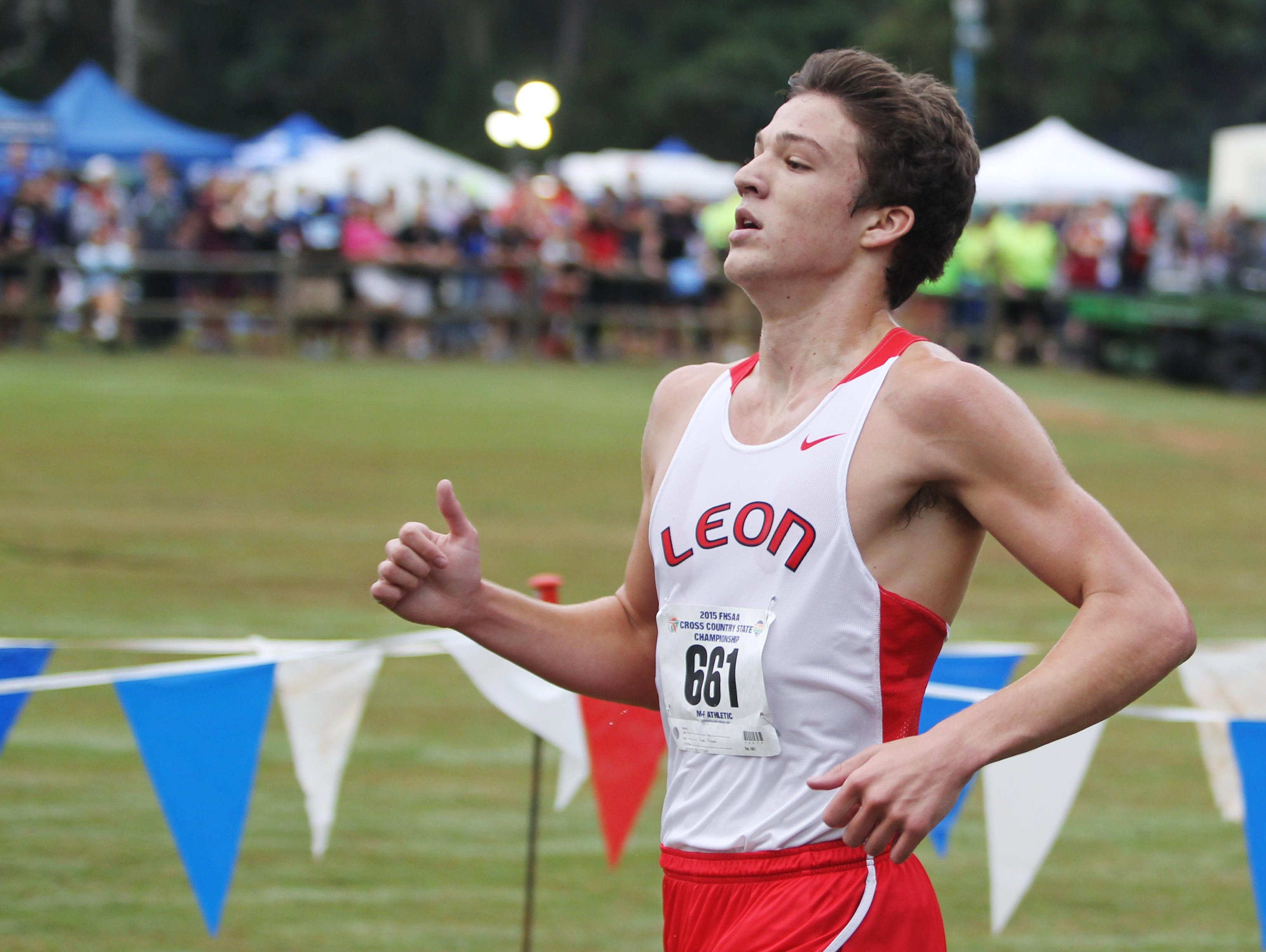 Leon senior Adam Wallenfelsz finished in the top 10 for the Lions in his final meet during Saturday's FHSAA cross country finals. Wallenfelsz only began running four years ago to train for lacrosse.