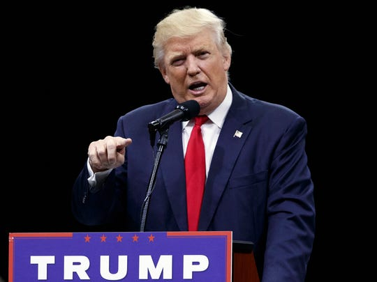 "FILE - In this Aug. 1, 2016, file photo, then-Republican presidential candidate Donald Trump speaks during a town hall event in Columbus, Ohio. On the eve of Donald Trump's inauguration four years later, the authors of the Republican National Committee's 2013 ""Growth and Opportunity Project"" concede their report is little more than an afterthought. (AP Photo/Evan Vucci, File)"