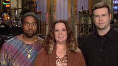 Kanye West and Melissa McCarthy