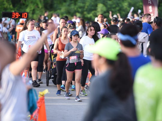 Hundreds of runners and other participants came out