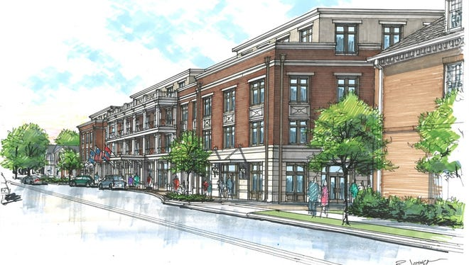 A rendering of Harpeth Square