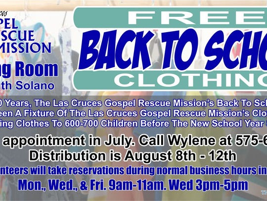 Gospel Rescue Mission has organized the back-to-school