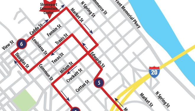 Part of the route for the 2016 Heroes run