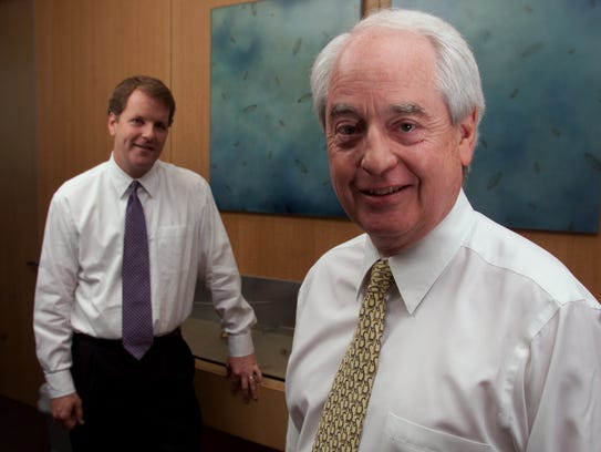 Bill Franke (right) turned over the CEO reins of America