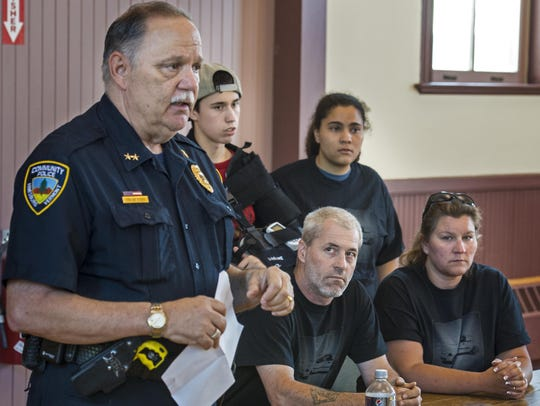 Hinesburg Police Chief Frank Koss discusses the double
