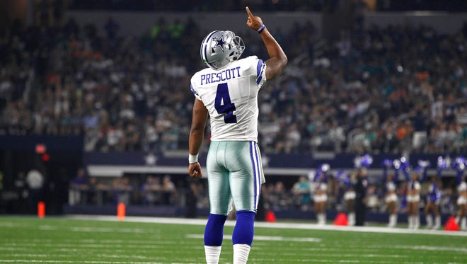 Dallas Cowboys quarterback Dak Prescott set a NFL record by not throwing an interception in his first 75 pass attempts.