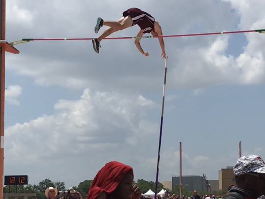 Sinton's Tyler Rittiman finished third in the Class 4A boys pole vault at the UIL State Track & Field Championships in Austin on Saturday, May 13.