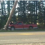 A spider caused this crash on Ridgeway Boulevard Tuesday, Manchester police said.