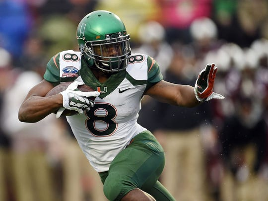 Miami running back Duke Johnson is among the 10 best at the position in this year's draft class.