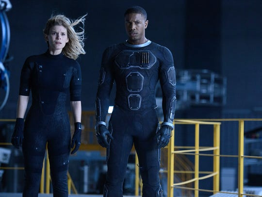 Sue Storm (Kate Mara) and Johnny Storm (Michael B.