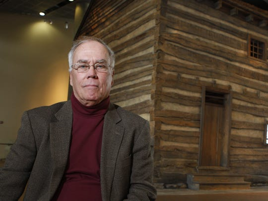 "Robert ""Chip"" Harrod, Convener of the Bridges of Faith Trialogue, is photographed near the slave pen at the National Underground Railroad Freedom Center in downtown Cincinnati, Ohio Tuesday May 3, 2011."