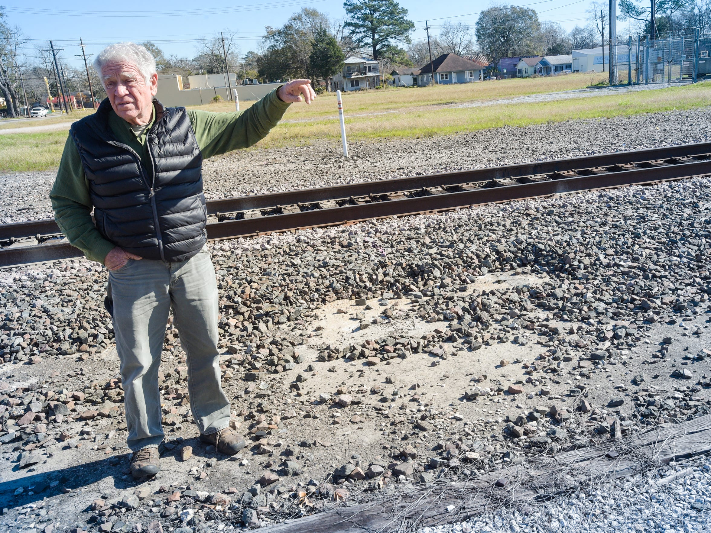 Harold Schoeffler believes an old rail yard maintenance area may contain environmental hazards that could be disrupted.