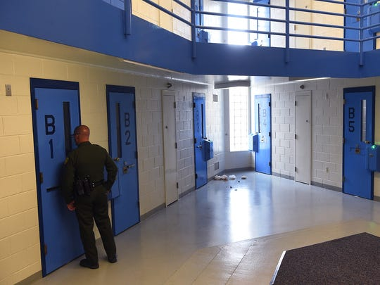 "The Reno Gazette-Journal hosts a ""Know Your City"" tour of the Washoe County jail in Reno on Aug. 18, 2016."