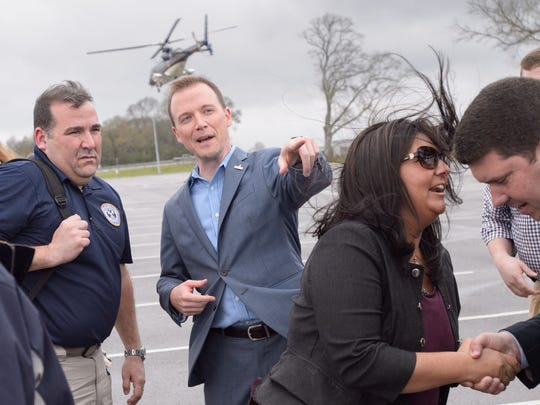 Representatives from the U.S. Senate Appropriations Committee arrive in Youngsville Monday to meet with families whose homes flooded as vetting for the $2 billion additional flood money that Mayor Ken Ritter and Gov John Bel Edwards are seeking.