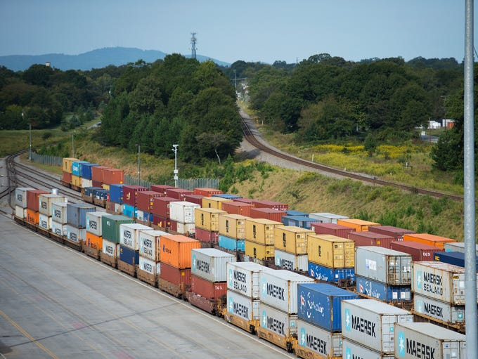 Trains headed for Atlanta and Charleston carry shipping
