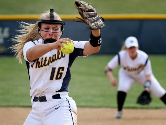 Haley Wynn was nearly unstoppable in leading Whitnall to its first state softball championship in 2018. She allowed just two hits for a 0.50 ERA at state.