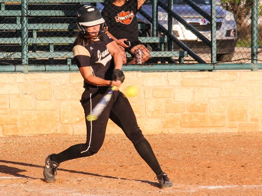 Junction High School senior pitcher/catcher Emily Vanckhoven had a .750 batting average with eight home runs in 2017. She repeated as the All-West Texas Softball Team MVP.