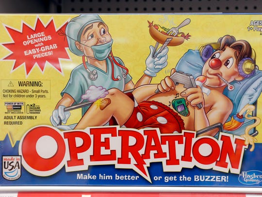 The game Operation is on display in New York in this