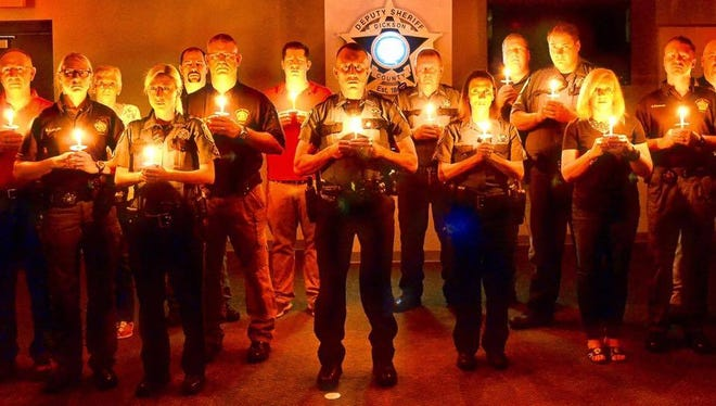 The Dickson County Sheriff's Office candlelight vigil to remember the life of Deputy Keith Bellar who died in the line of duty give years ago today.