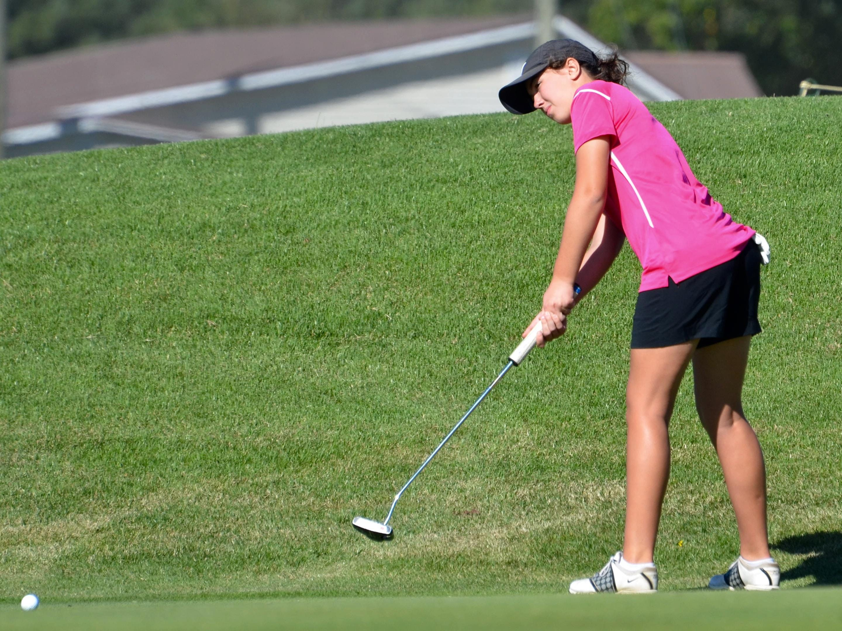 Central Magnet's Delaney Sain competed in her first TSSAA Class A/AA state tournament Tuesday.