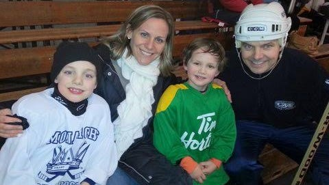 David Andreatta with his wife, Wendy, and their boys, Owen and Lucas.