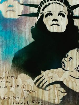 """""""Mother of Exiles"""" by Michael Mahaffey."""