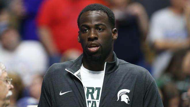 Former Michigan State star Draymond Green, now with the NBA's Golden State Warriors, is a two-time world champion. He's a Saginaw, Michigan native.