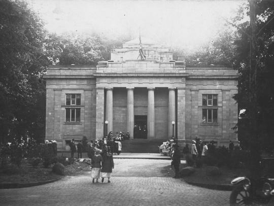 The Rutherford B. Hayes Presidential Library & Museums, pictured here when it opened in 1916, is celebrating its Centennial Celebration May 28 to 30.