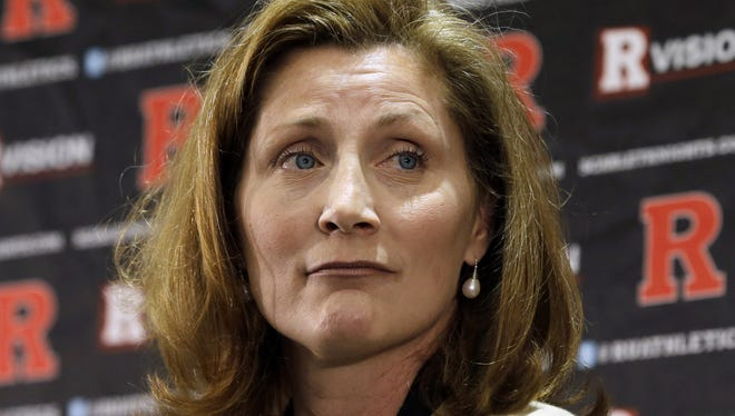 Julie Hermann was introduced as the new athletic director at Rutgers University last May. The school officially joins the Big Ten Conference in July.