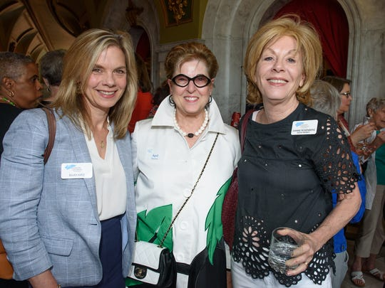 The Greater Cincinnati Foundation CEO Ellen Katz mingles with past Women of the Year honorees.