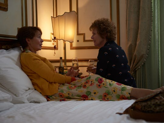 "Celia Imrie (left) and Imelda Staunton play siblings in ""Finding Your Feet."""
